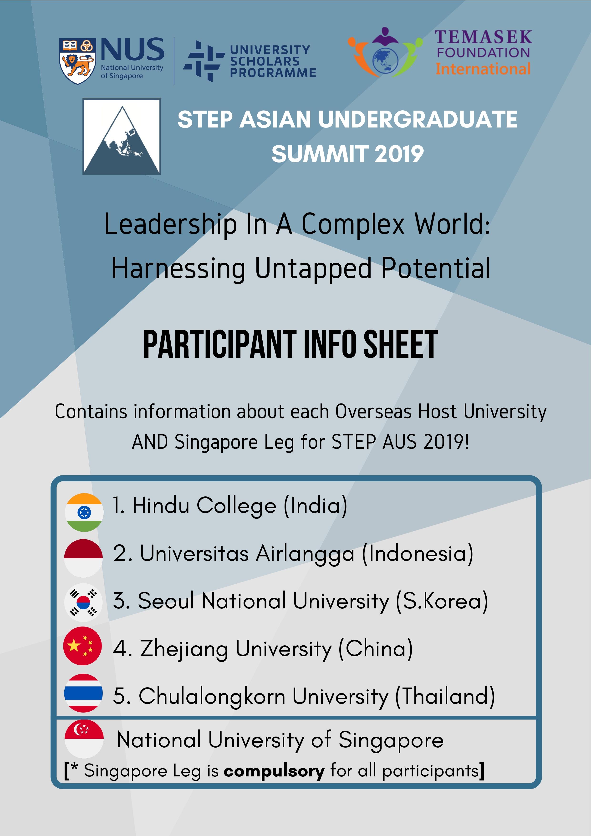 AUS Overseas Leg Calls For Participants!